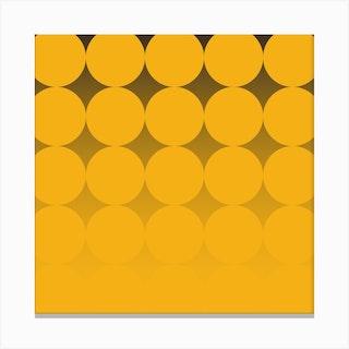 Circling Yellow Square Canvas Print