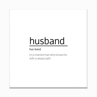 Husband Definition Canvas Print