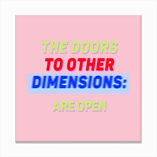 The Doors To Other Dimensions Pink Canvas Print