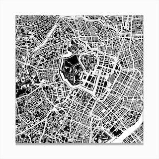 Tokyo Black and White Canvas Print