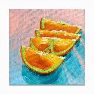 Orange Slices Square Canvas Print