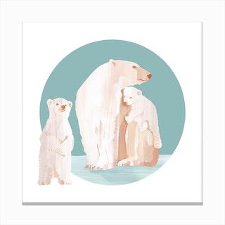 Snow Cuddles Canvas Print