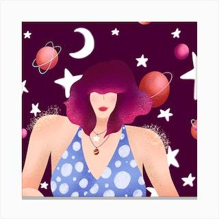 Rosie Square Canvas Print