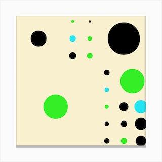 Yayay Dots Teal Square Canvas Print
