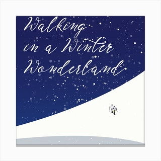 Walking In A Winter Wonderland Square Canvas Print