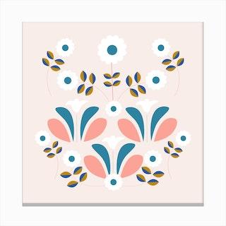 Retro Beautiful Flower Composition 2 Canvas Print