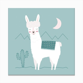 Alpaca In The Mountains Canvas Print