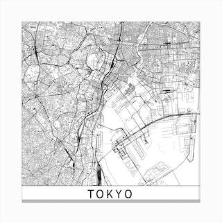 Tokyo Map Canvas Print