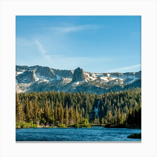 Crystal Crag From Twin Lakes Square Canvas Print