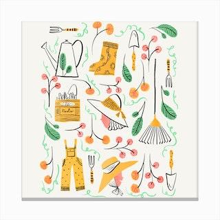 Gardening Fun Canvas Print