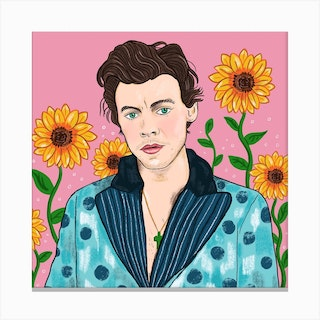Harry Styles Square Canvas Print