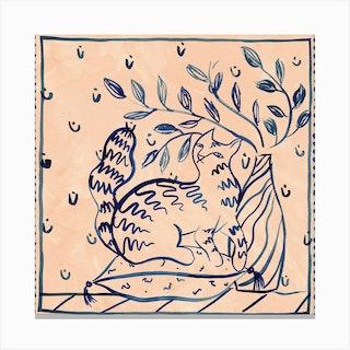 Supra Endura Cats Square Canvas Print