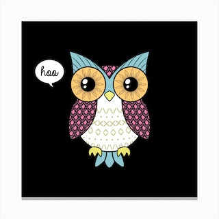 Fancy Owl Canvas Print