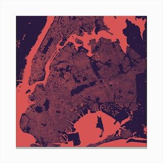 New York in Purple/Night Canvas Print