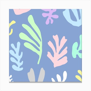 Matisse Colorful Leaves  Square Canvas Print