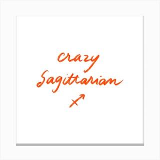 Sagittarius 2 Square Canvas Print