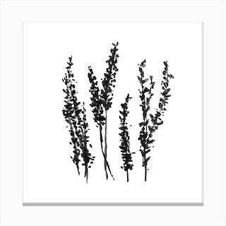 Spring Hyacinths Square Canvas Print