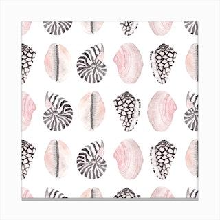 Seashell Pattern2 Canvas Print