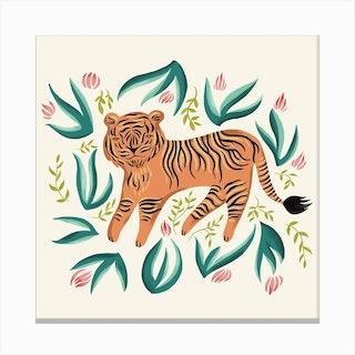Tiger Square Canvas Print