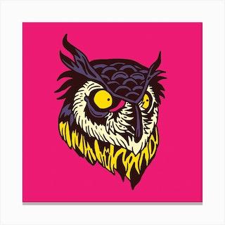 Owl Square Canvas Print