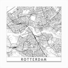Rotterdam Map Canvas Print