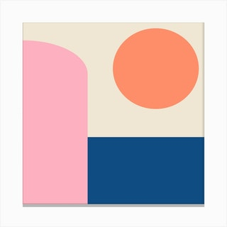 Simple Shapes Square Canvas Print
