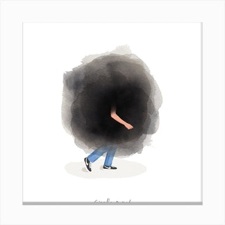 Cloud Of Worry Square Canvas Print