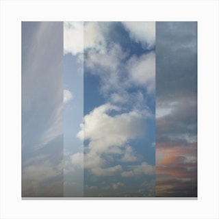 Northern Sky Fragments 3 Canvas Print
