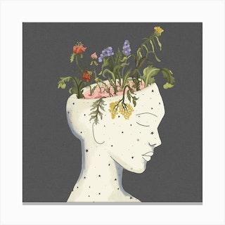 Grow Square Canvas Print