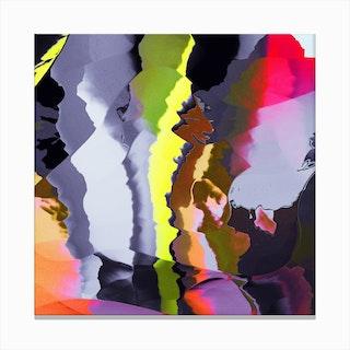 Neon Flashing In Canvas Print