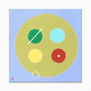 Button Minimalist Mandala Canvas Print
