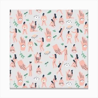 Hands Square Canvas Print
