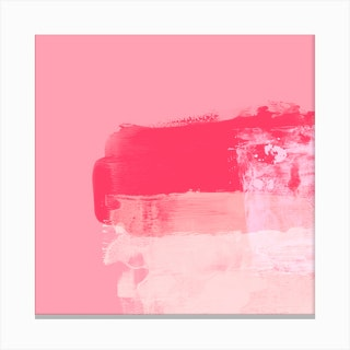 Minimalistic ExpressiveAbstract In Pink Canvas Print