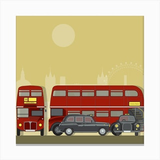 London Transport Gold Canvas Print
