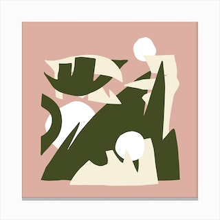 The Playful Mountain Square Canvas Print