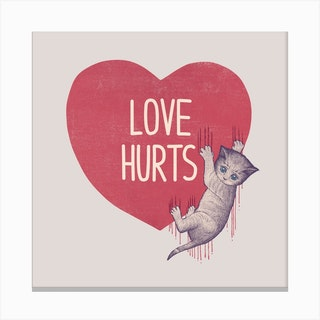 Love Hurts I Canvas Print