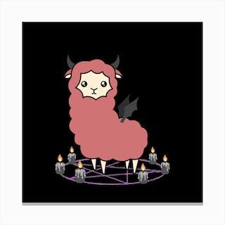 Llama Demon Canvas Print