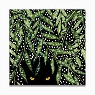 Tropical Night Square Canvas Print