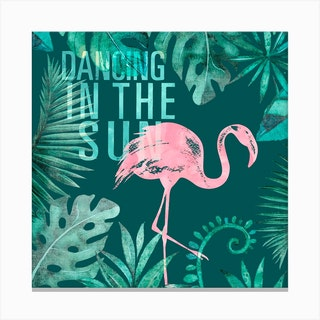 Flamingo Jungle Canvas Print