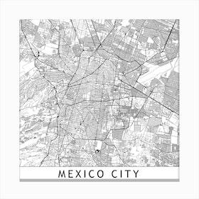 Mexico City Map Canvas Print