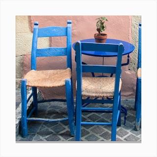 Greek Chairs Canvas Print