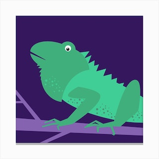 Kids Room Iguana Canvas Print