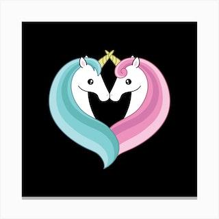 Unicorn Heart Canvas Print