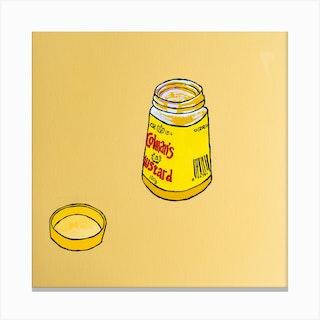 Colmans Mustard Square Canvas Print