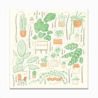 We Love Plants Canvas Print