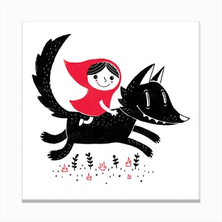 Red Riding Canvas Print