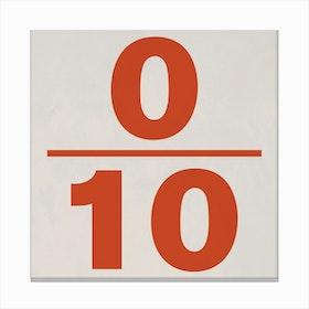 0 10 Canvas Print
