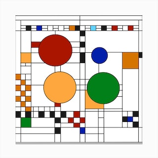 Frank Lloyd Wright Stained Glass Ii Canvas Print
