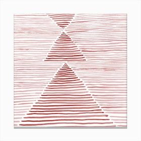 Rosario Watercolor In Pink Canvas Print