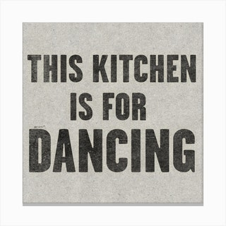 This Kitchen Is For Dancing Paper Canvas Print